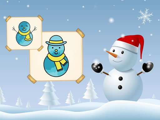 Play Happy Snowman Coloring Game