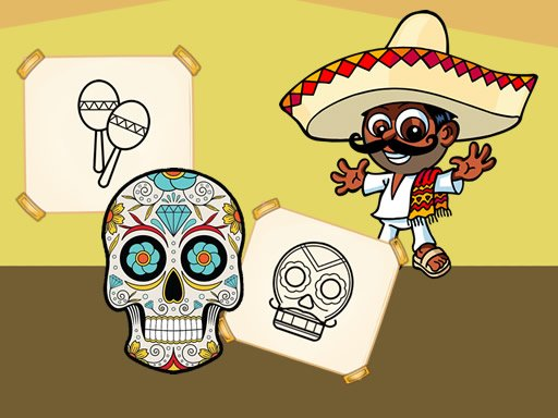 Play Crazy Mexican Coloring Game