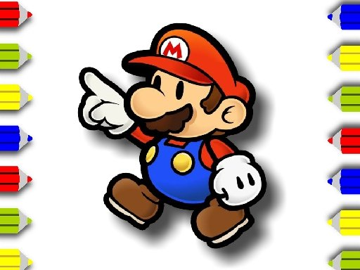 Play BTS Mario Coloring Game