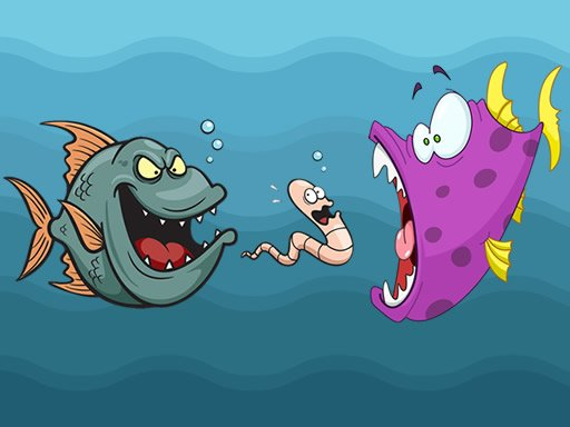 Play Angry Fish Coloring Game