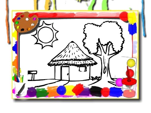Play House Coloring Game