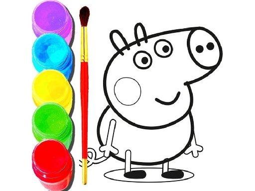 Play BTS Peppa Pig Coloring Game