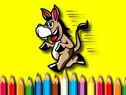 Play BTS Donkey Coloring Game