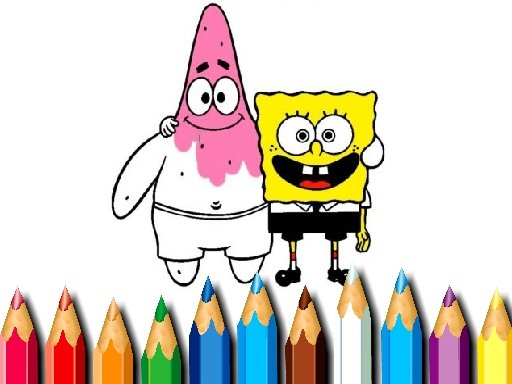 Play BTS Sponge Bob Coloring Game