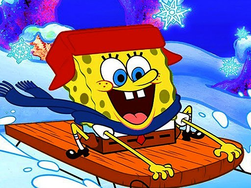 Play SpongeBob Winter Puzzle Game