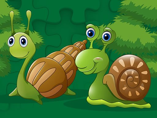 Play Cute Snails Jigsaw Game