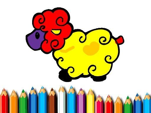 Play Baby Sheep Coloring Game