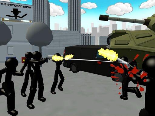 Play Stickman City Shooter Game