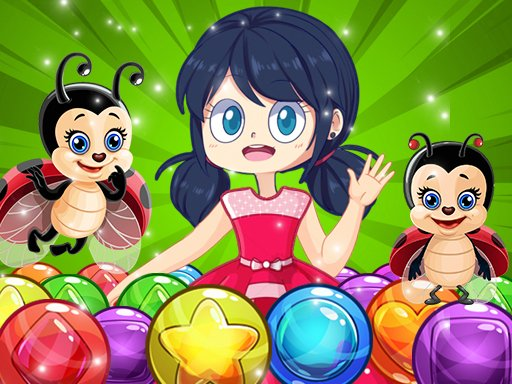 Play Miraculous Ladybug Bubble Shooter Game