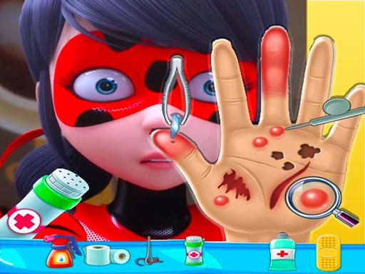Play Ladybug Miraculous Hand Doctor Game