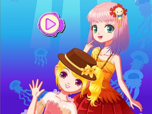 Play Mermaid Princess Dress Up Salon Game