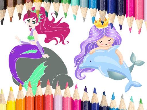 Play Mermaid Coloring Game