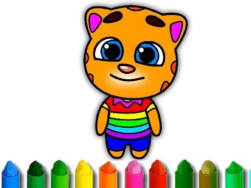 Play Talking Tom Coloring Game