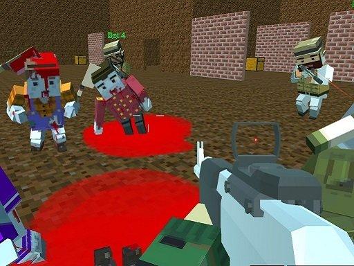 Play Blocky Warfare the Aweper Zombie Game
