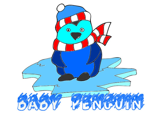Play Baby Penguin Coloring Game