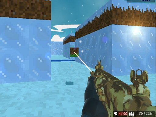 Play Blocky Swat Shooting IceWorld Multiplayer Game