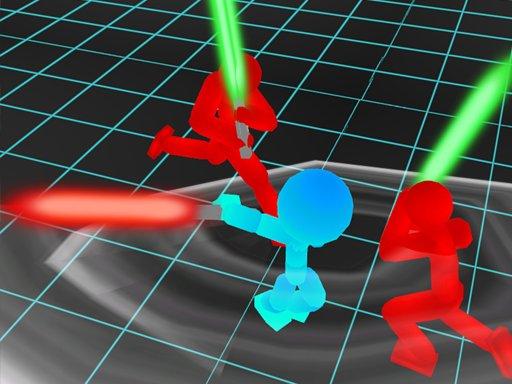 Play Stickman Neon Warriors: Sword Fighting Game