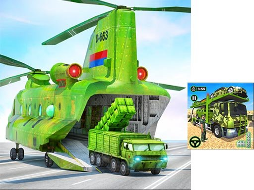 Play US Army Cargo Transport Truck Driving Game