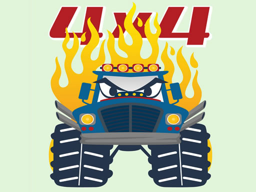 Play Monster Trucks Coloring Game