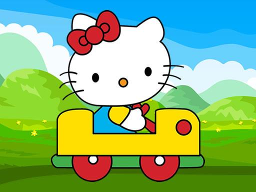 Play Hello Kitty Car Jigsaw Game