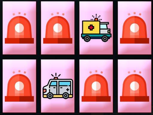 Play Ambulance Trucks Memory Game