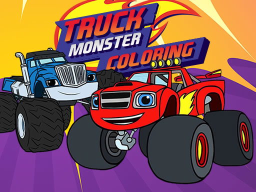 Play Blaze Monster Truck Coloring Game