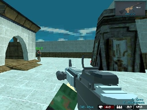 Play Blocky Shooting Arena 3D Pixel Combat Game