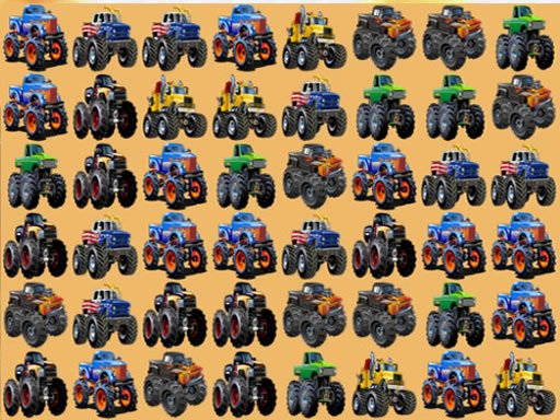 Play Monsters Trucks Match 3 Game