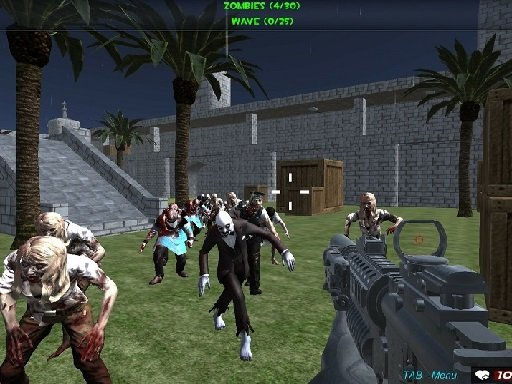Play Shooting Zombie fps Xtreme Good vs Bad Boys Game