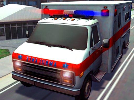 Play Emergency Ambulance Rescue Drive Sim Game