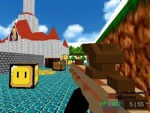 Play Paintball Gun Pixel 3D Game