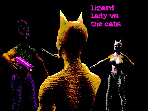 Play Lizard Lady vs the Cats Game