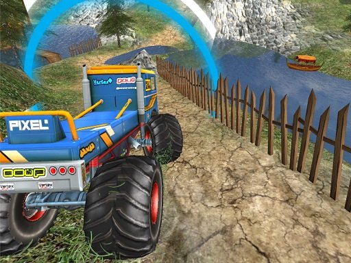 Play Monster Truck Offroad Driving Mountain Game