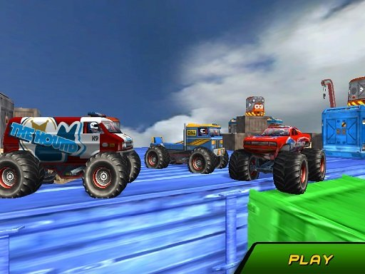 Play Monster Truck Stunts Sky Driving Game