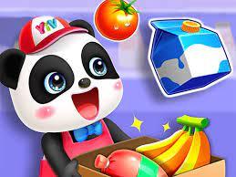 Play Cute Panda Supermarket Game