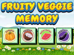 Play Fruity Veggie Memory Game