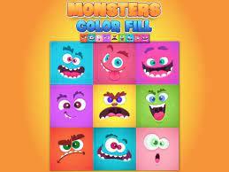 Desenhos de Monsters Color Fill para colorir