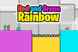 Play Red and Green Rainbow Game