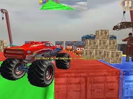 Desenhos de Monster Truck Driving Stunt Game Sim para colorir